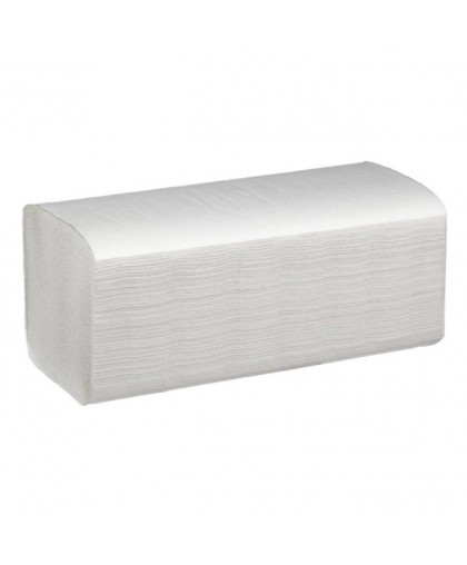 Листовые Полотенца V-сложения, 1-слойные, 250 листов в пачке. (Размер листов — 23x21,5см) - 1 упаковка