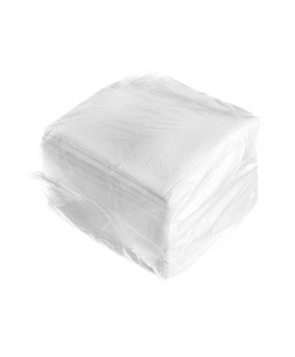 Салфетки 1-слойные 50 листов в пачке (белый) (в полиэтилене) - 1 упаковка