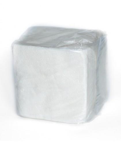 Салфетки 1-слойные 100 листов в пачке (белый 100%) (в полиэтилене) - 1 упаковка